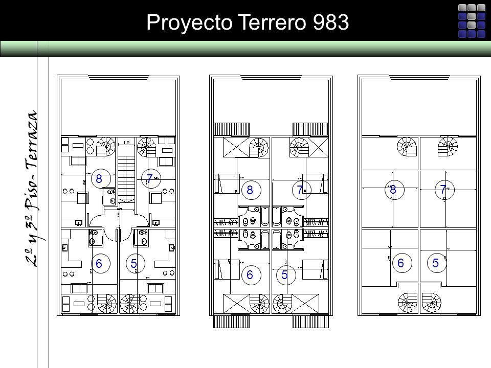 Proyecto Terrero 983 2º y 3º Piso- Terraza 87 65 87 65 87 65