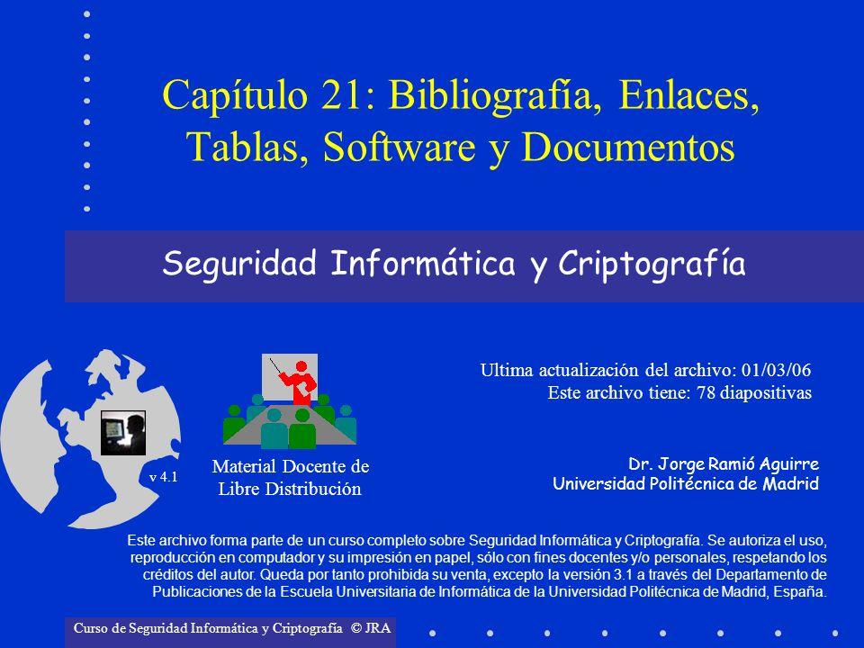 Material Docente de Libre Distribución Ultima actualización del archivo: 01/03/06 Este archivo tiene: 78 diapositivas Dr. Jorge Ramió Aguirre Universi