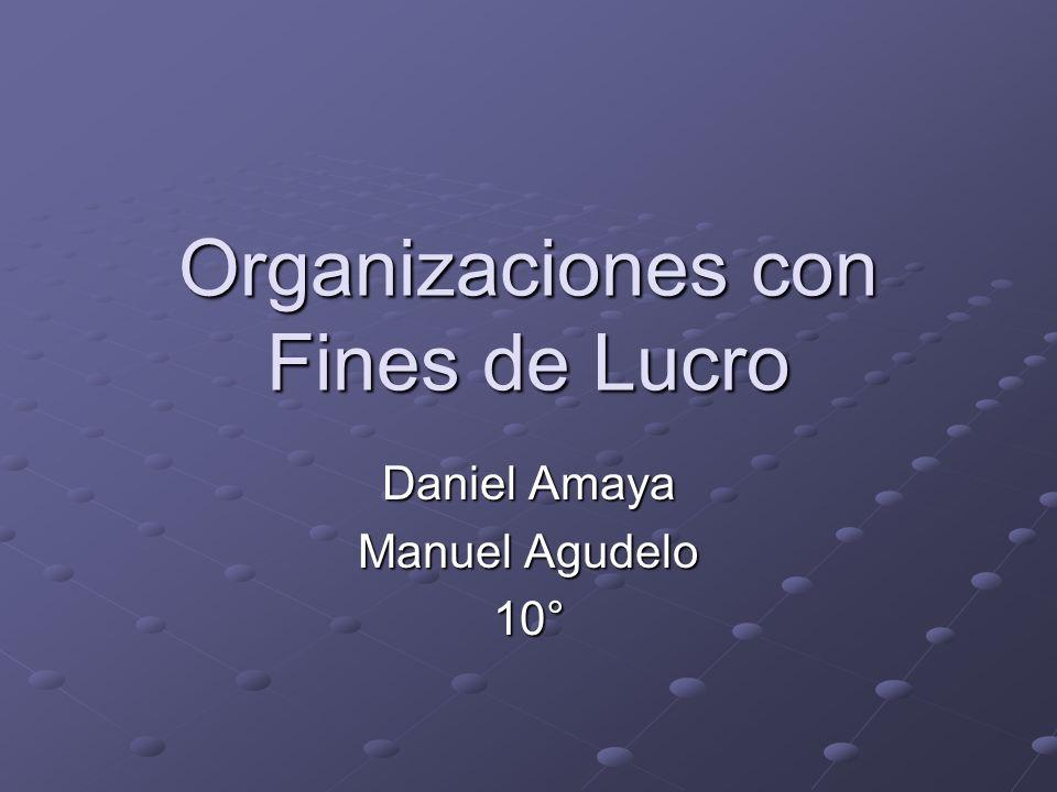 Organizaciones con Fines de Lucro Daniel Amaya Manuel Agudelo 10°