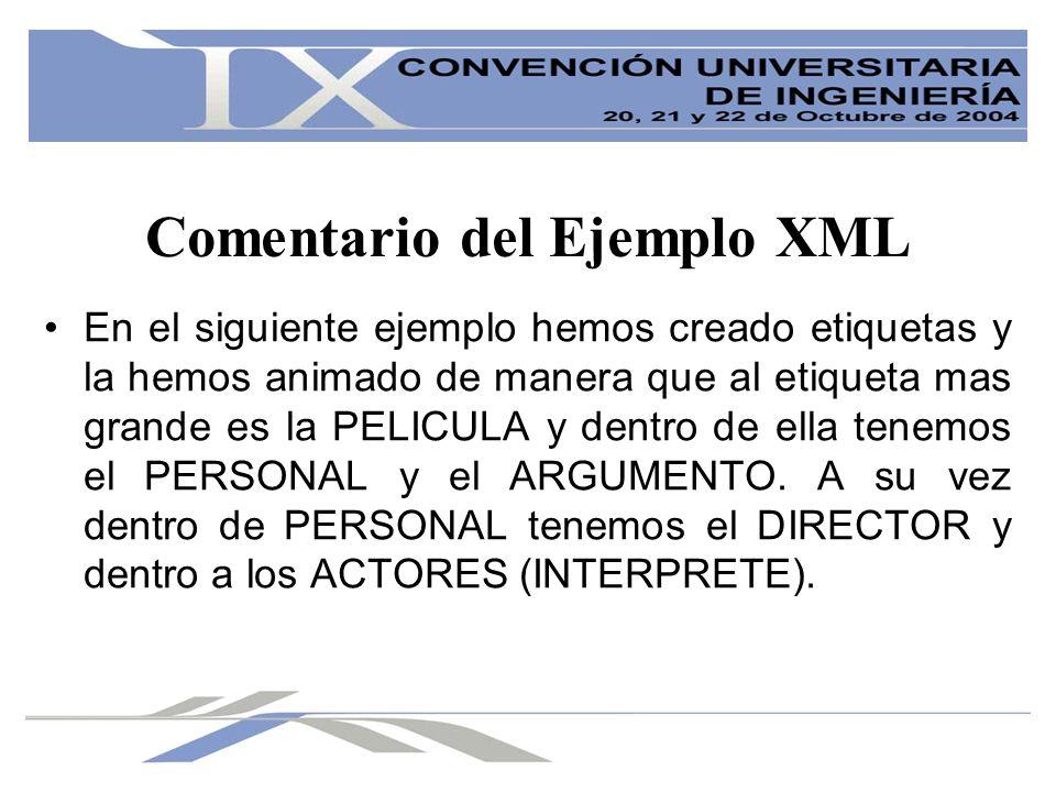 Ventajas del XML XML es un lenguaje independiente de la plataforma sobre la que se trabaja.