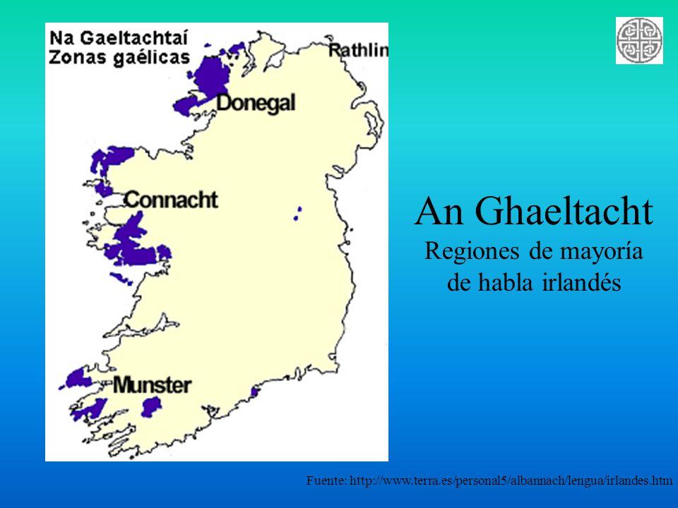 Utilizar el Irlandés Ag baint úsáid as an Ghaeilge Administración del Gobierno ¿Primera lengua….