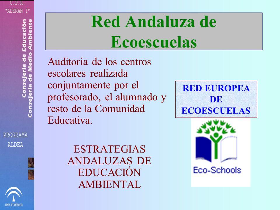 Red Andaluza de Ecoescuelas Auditoria de los centros escolares realizada conjuntamente por el profesorado, el alumnado y resto de la Comunidad Educativa.