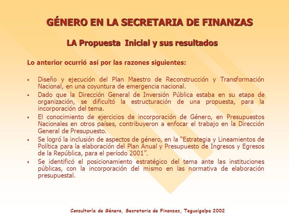 Lo anterior ocurrió así por las razones siguientes: Diseño y ejecución del Plan Maestro de Reconstrucción y Transformación Nacional, en una coyuntura de emergencia nacional.