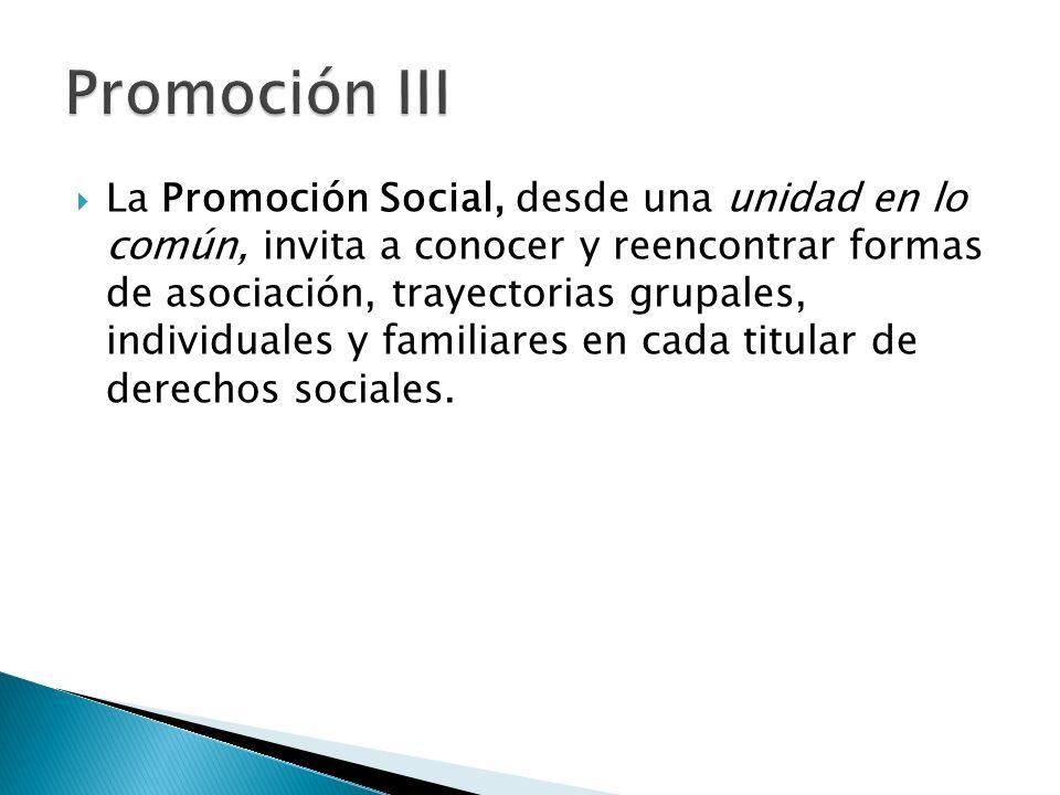 La Promoción Social, desde una unidad en lo común, invita a conocer y reencontrar formas de asociación, trayectorias grupales, individuales y familiar