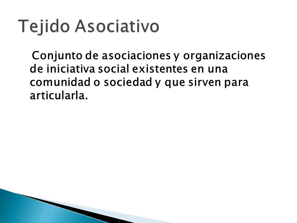 Conjunto de asociaciones y organizaciones de iniciativa social existentes en una comunidad o sociedad y que sirven para articularla.