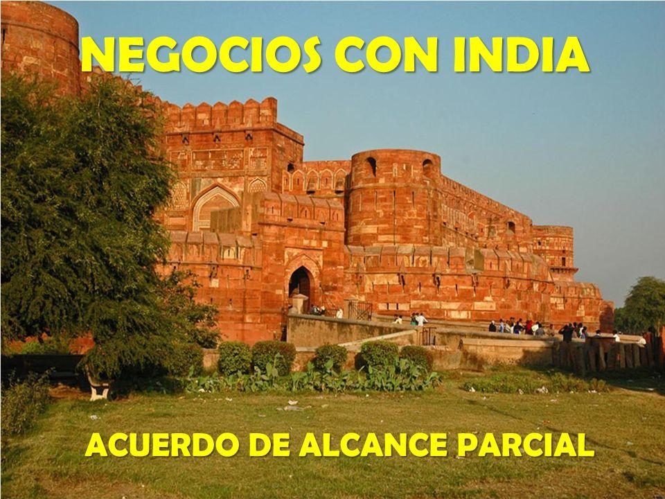 ACUERDO DE ALCANCE PARCIAL NEGOCIOS CON INDIA