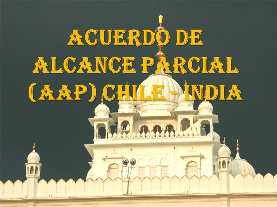 ACUERDO DE ALCANCE PARCIAL (AAP) CHILE - INDIA