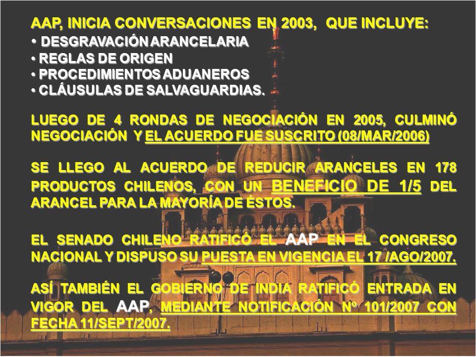 AAP, INICIA CONVERSACIONES EN 2003, QUE INCLUYE: DESGRAVACIÓN ARANCELARIA DESGRAVACIÓN ARANCELARIA REGLAS DE ORIGEN REGLAS DE ORIGEN PROCEDIMIENTOS AD