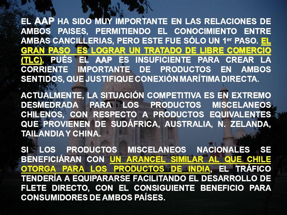 AAP EL GRAN PASO ES LOGRAR UN TRATADO DE LIBRE COMERCIO (TLC)AAP EL AAP HA SIDO MUY IMPORTANTE EN LAS RELACIONES DE AMBOS PAISES, PERMITIENDO EL CONOC