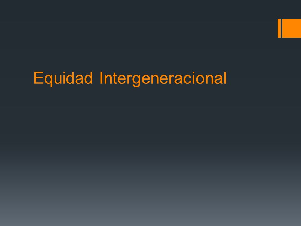 Equidad Intergeneracional