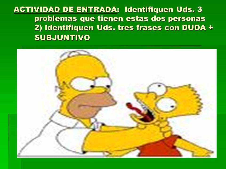ACTIVIDAD DE ENTRADA: Identifiquen Uds.
