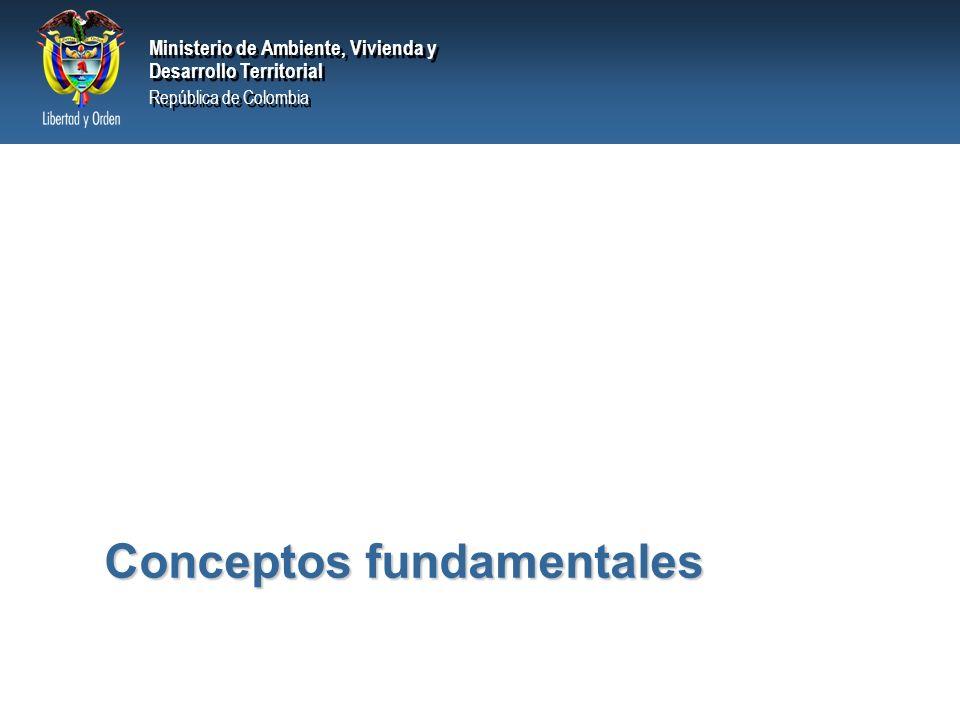 Ministerio de Ambiente, Vivienda y Desarrollo Territorial República de Colombia Ministerio de Ambiente, Vivienda y Desarrollo Territorial República de Colombia Conceptos fundamentales