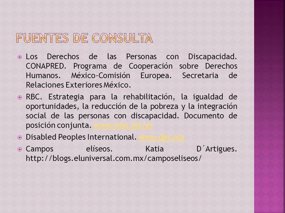 Los Derechos de las Personas con Discapacidad.CONAPRED.