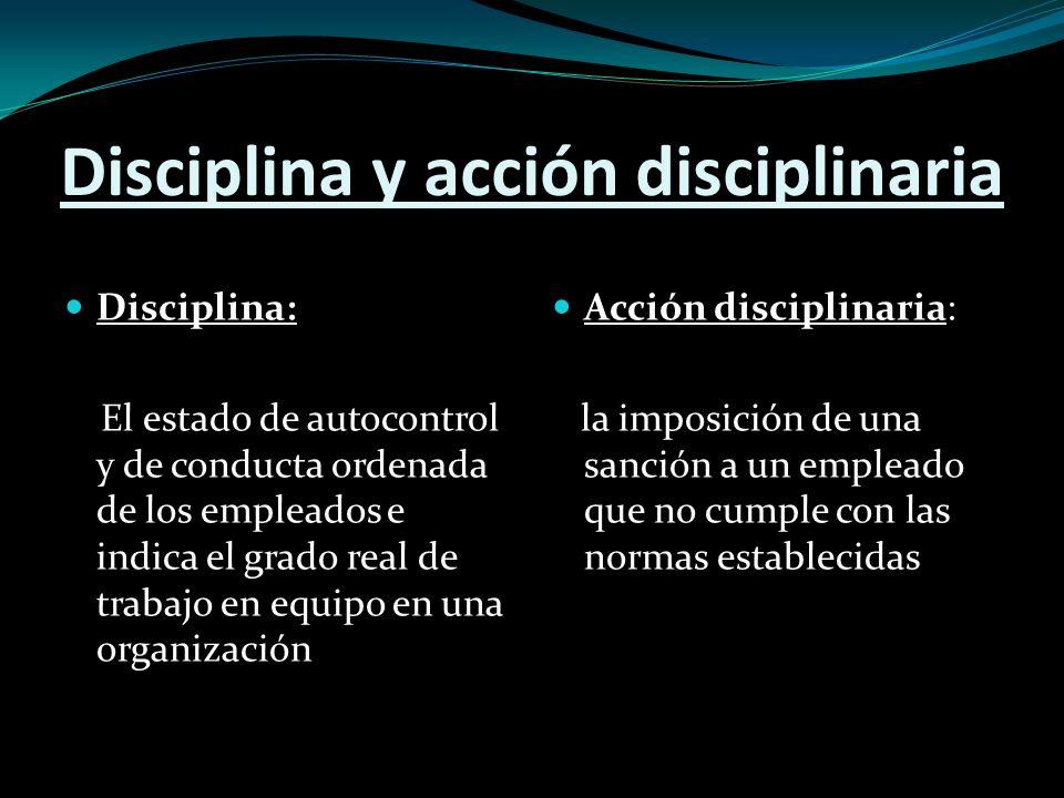 El proceso de acción disciplinaria Este es un proceso dinámico y continuo.