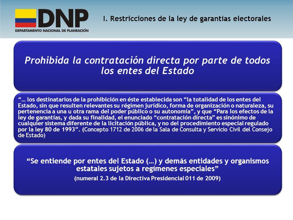 Prohibida la contratación directa por parte de todos los entes del Estado … los destinatarios de la prohibición en éste establecida son la totalidad d