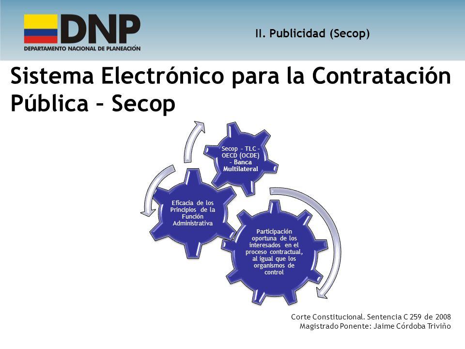 Sistema Electrónico para la Contratación Pública – Secop Participación oportuna de los interesados en el proceso contractual, al igual que los organis