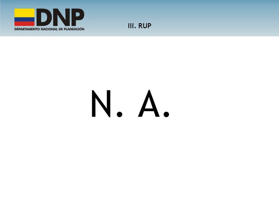 III. RUP N. A.