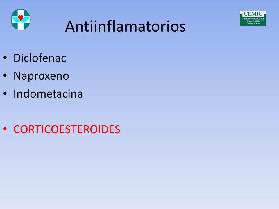 Antiinflamatorios Drogas antiinflamatorias Corticoesteroides