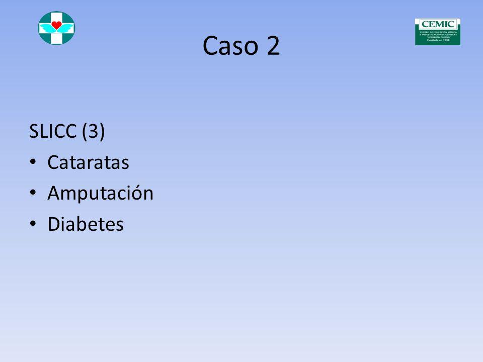 Caso 2 60708090001050 FAN Células LE Anti DNA Criterios ACR Anti ENAs y anti Ro Anti fosfolípi dos Criterios SAF Corticoes teroides Antimalári cos Cic
