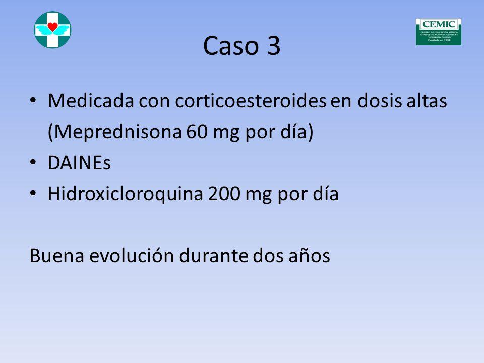 Caso 3 MB Paciente de 34 años Diagnóstico de LES desde abril de 1996 Rash Fotosensibilidad Plaquetopenia Poliartritis