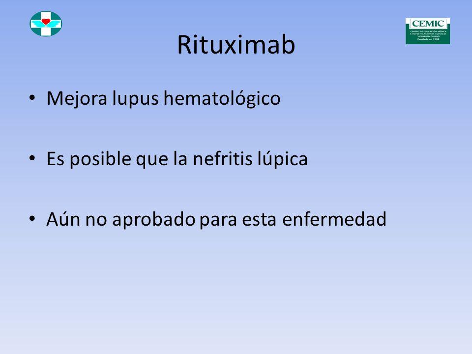 Rituximab (Mabthera ® Roche) es un anticuerpo monoclonal quimérico murino/humano, obtenido por ingeniería genética En pacientes con artritis reumatoid
