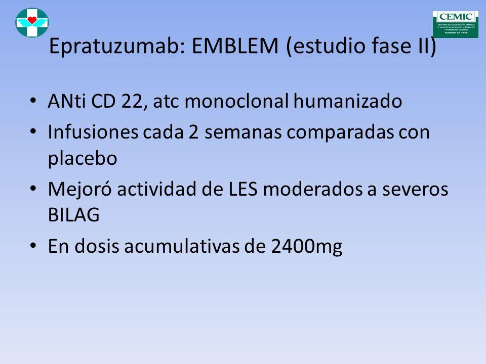 Rituximab Mejora lupus hematológico Es posible que la nefritis lúpica Aún no aprobado para esta enfermedad
