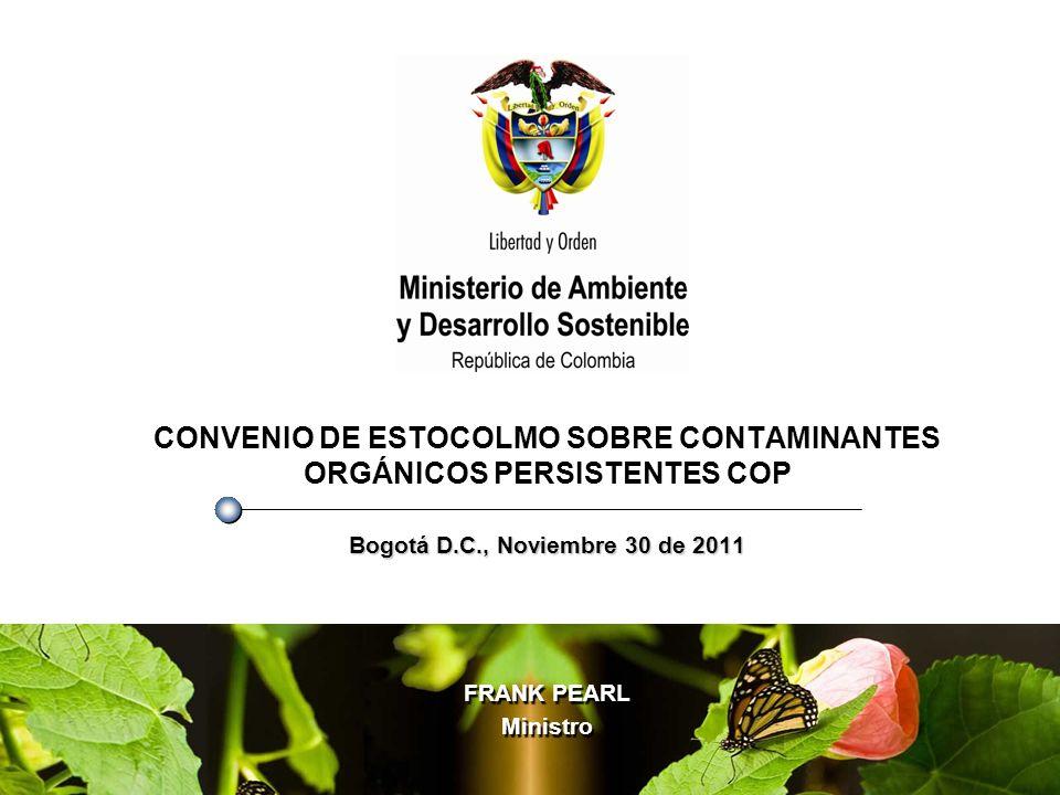 AGENDA 1.¿Qué son los Contaminantes Orgánicos Persistentes COP.