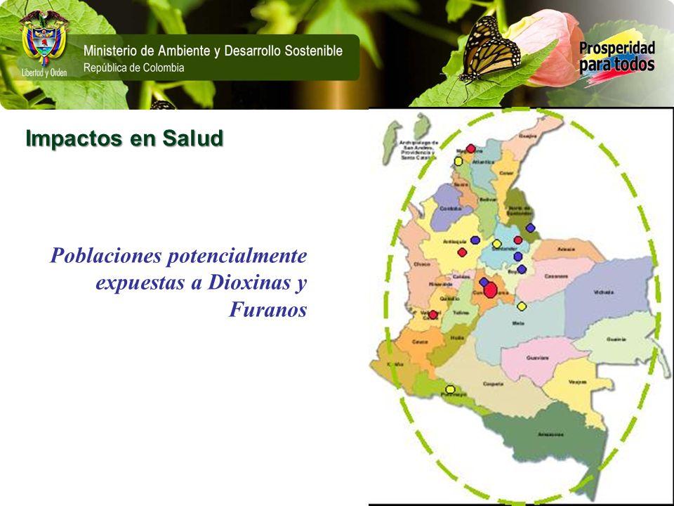 Impactos en Salud Poblaciones potencialmente expuestas a Dioxinas y Furanos