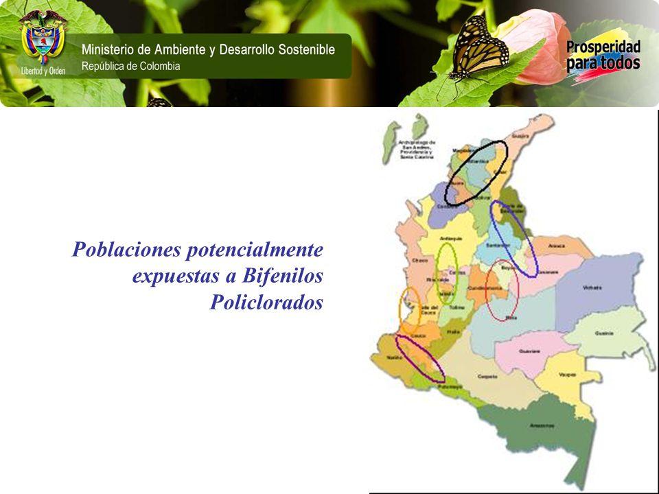Poblaciones potencialmente expuestas a Bifenilos Policlorados
