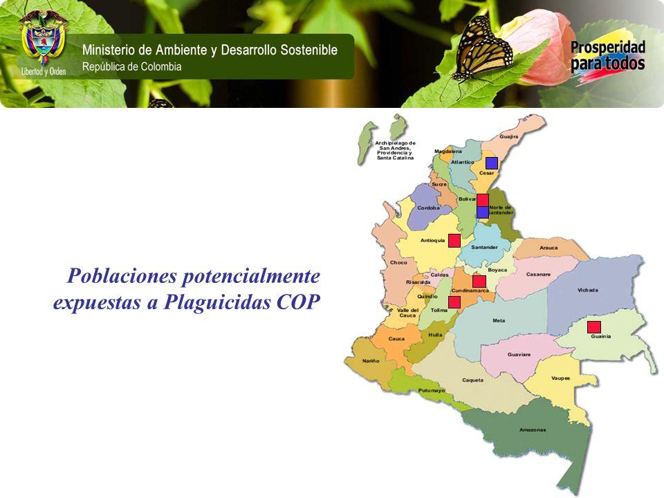 Poblaciones potencialmente expuestas a Plaguicidas COP