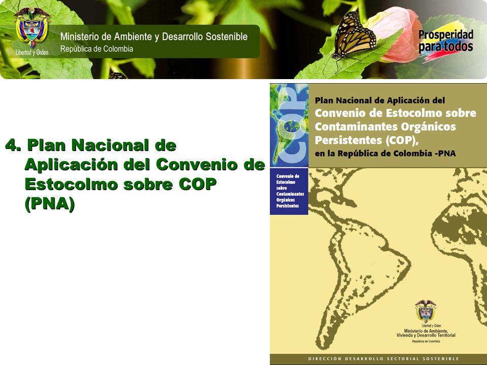 4. Plan Nacional de Aplicación del Convenio de Estocolmo sobre COP (PNA)