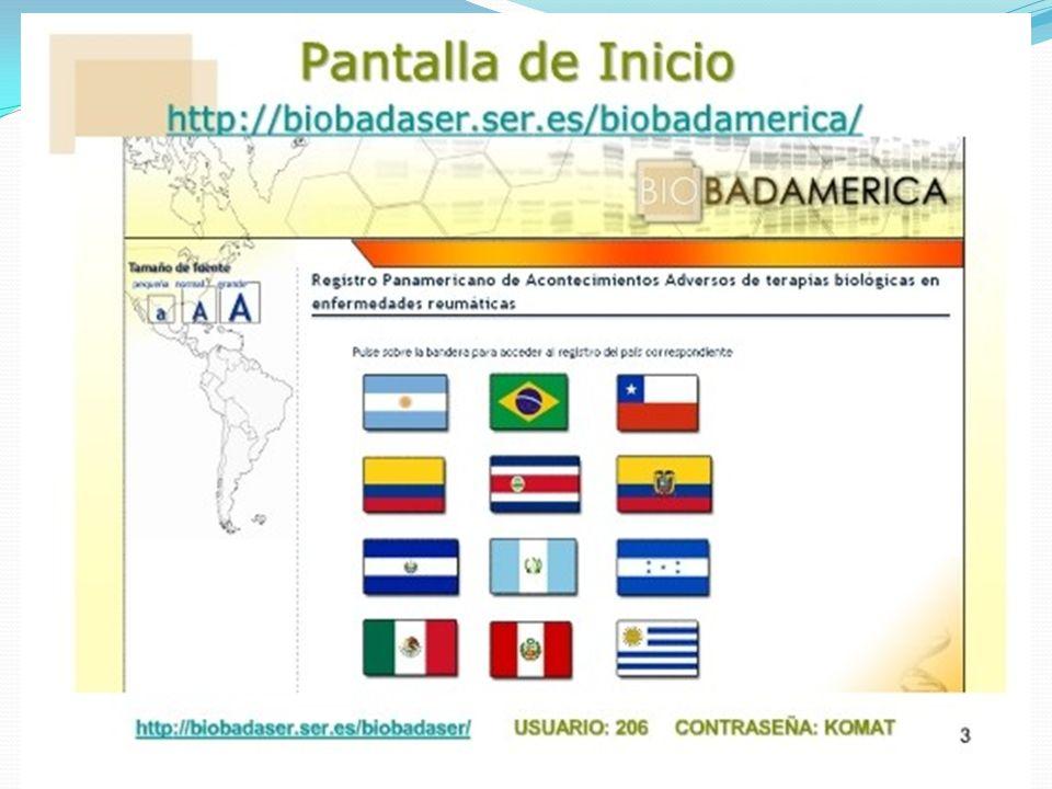 BIOBADASAR 56 centros públicos y privados inscriptos Primer corte de base de datos: Abril 2011 (1000 pacientes) Retribución económica a los centros participantes