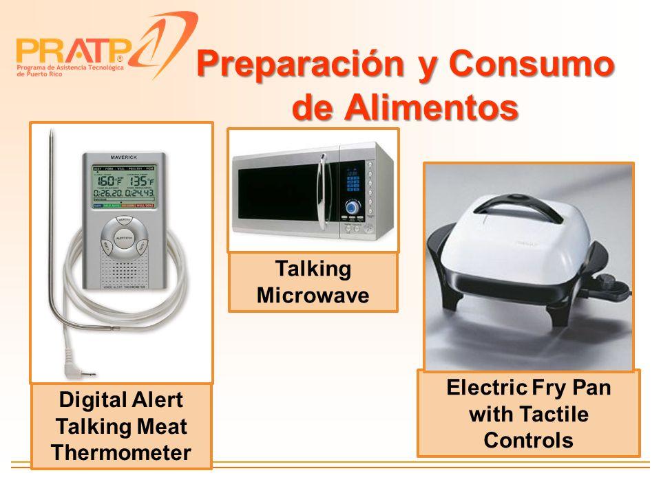 ® Preparación y Consumo de Alimentos Digital Alert Talking Meat Thermometer Electric Fry Pan with Tactile Controls Talking Microwave