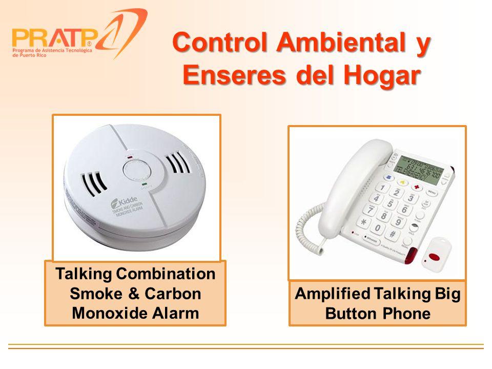 ® Control Ambiental y Enseres del Hogar Talking Combination Smoke & Carbon Monoxide Alarm Amplified Talking Big Button Phone