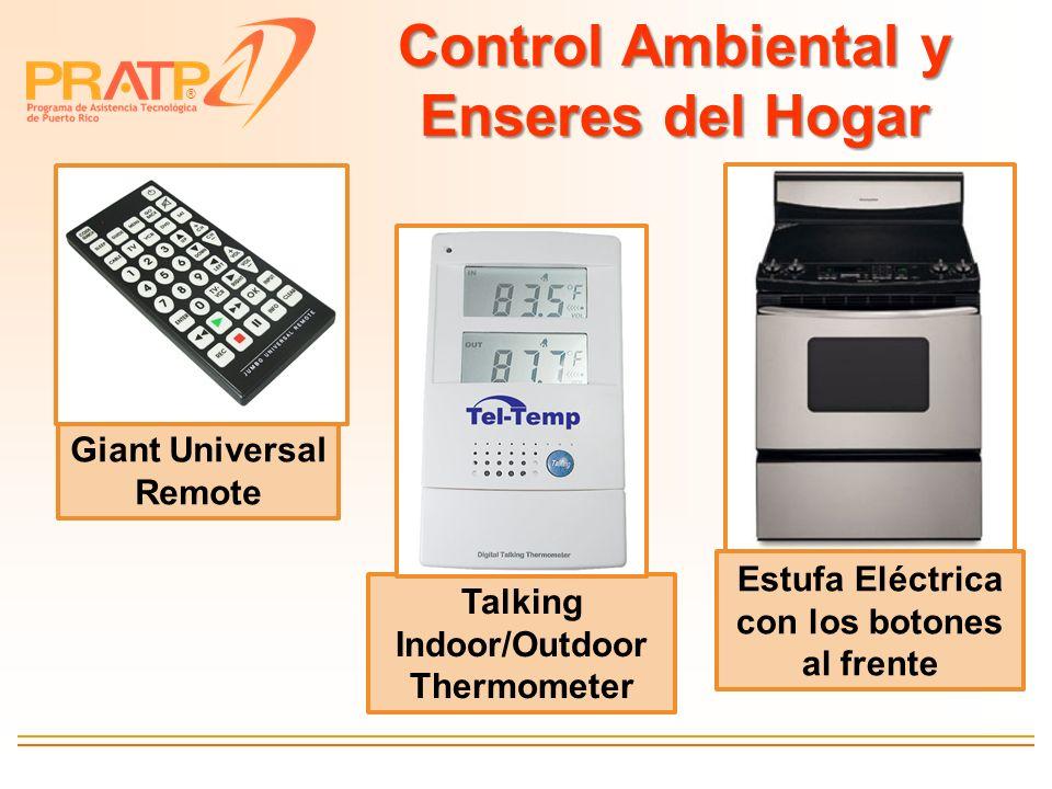 ® Control Ambiental y Enseres del Hogar Giant Universal Remote Talking Indoor/Outdoor Thermometer Estufa Eléctrica con los botones al frente