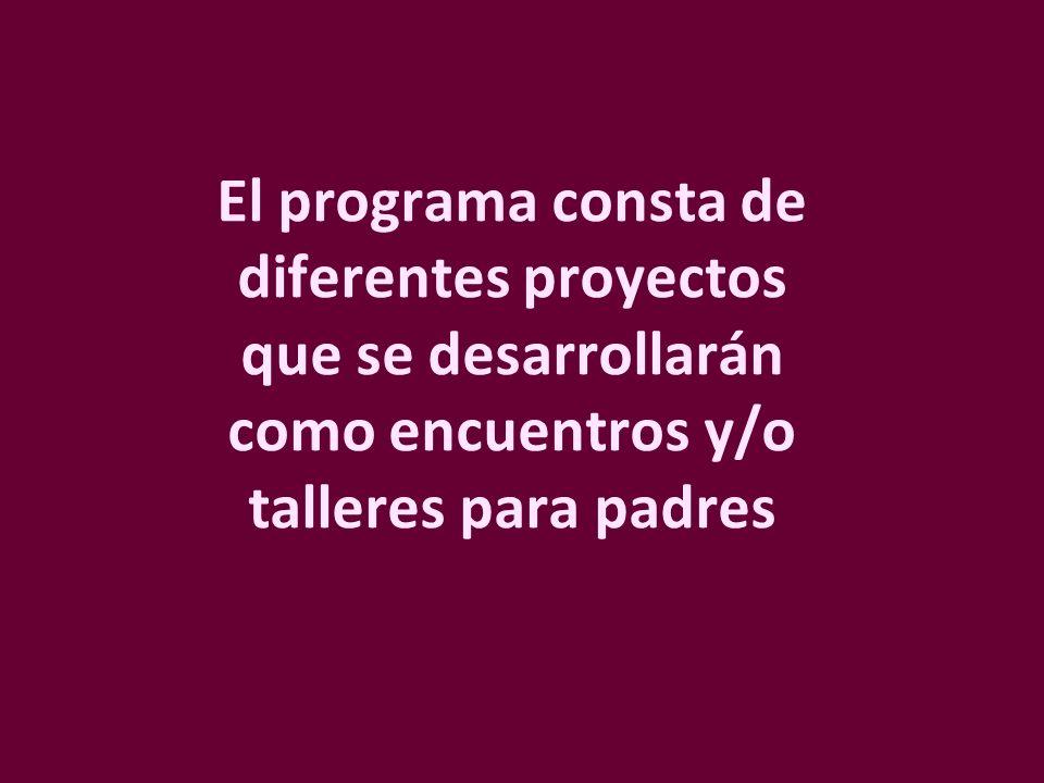 Los proyectos son presentados en bolsos de trabajo… Los proyectos son presentados en bolsos de trabajo… …que contienen el material necesario para los talleres, un manual del formador y material para entregar a los asistentes.