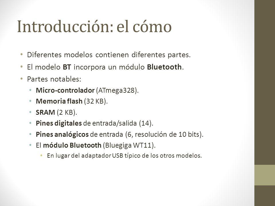 Introducción: el cómo Diferentes modelos contienen diferentes partes. El modelo BT incorpora un módulo Bluetooth. Partes notables: Micro-controlador (
