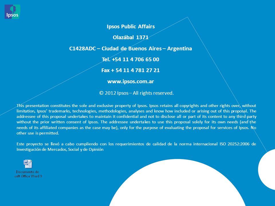 Ipsos Public Affairs Olazábal 1371 C1428ADC – Ciudad de Buenos Aires – Argentina Tel. +54 11 4 706 65 00 Fax + 54 11 4 781 27 21 www.ipsos.com.ar © 20
