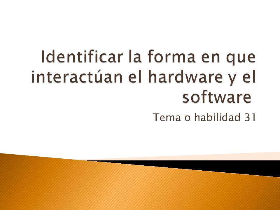 OBJETIVO 1 Identificar la forma en que el software y el hardware trabajan en armonía para realizar tareas de informática y el modo en que se desarroll
