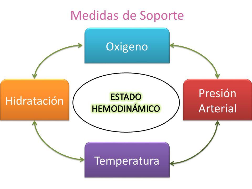 Medidas de Soporte Hidratación Temperatura Oxigeno Presión Arterial Presión Arterial