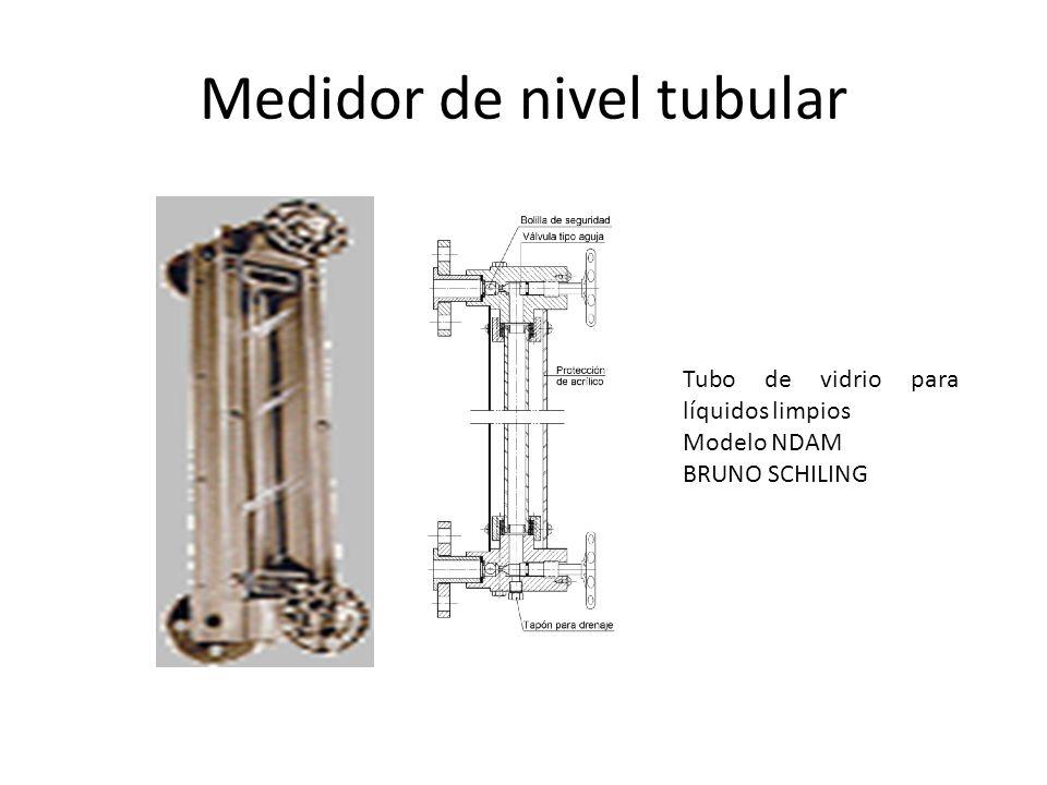 Medidor de nivel tubular Tubo de vidrio para líquidos limpios Modelo NDAM BRUNO SCHILING