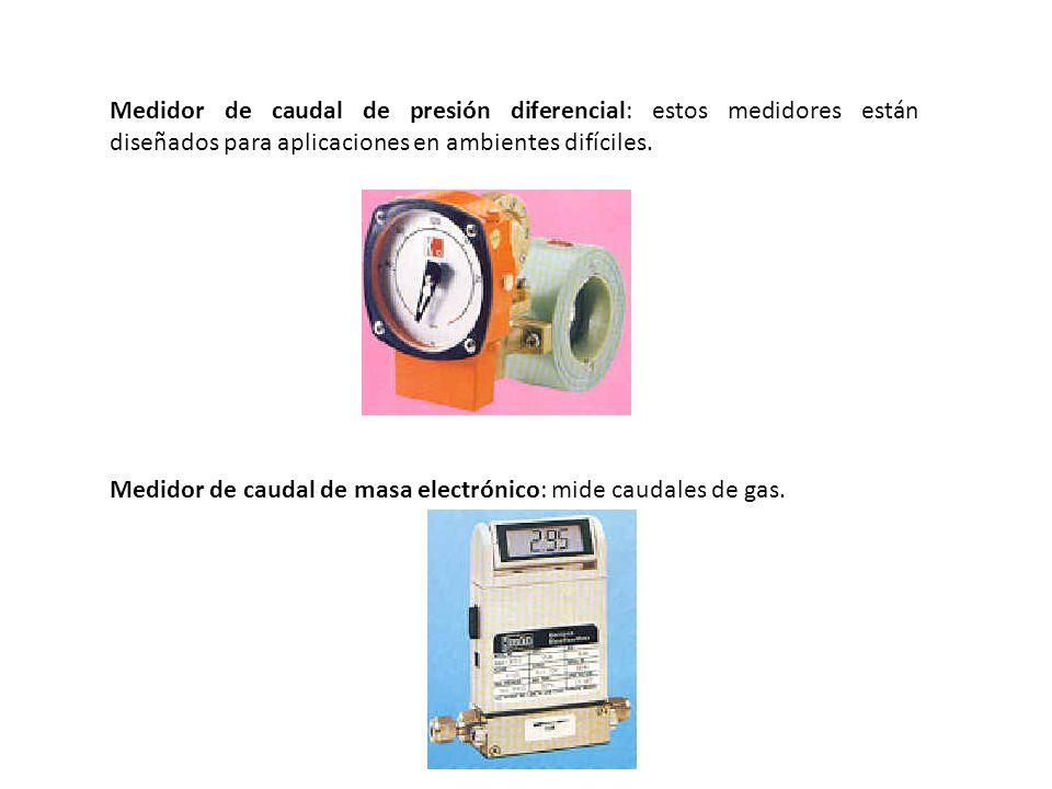 Medidor de caudal de presión diferencial: estos medidores están diseñados para aplicaciones en ambientes difíciles. Medidor de caudal de masa electrón