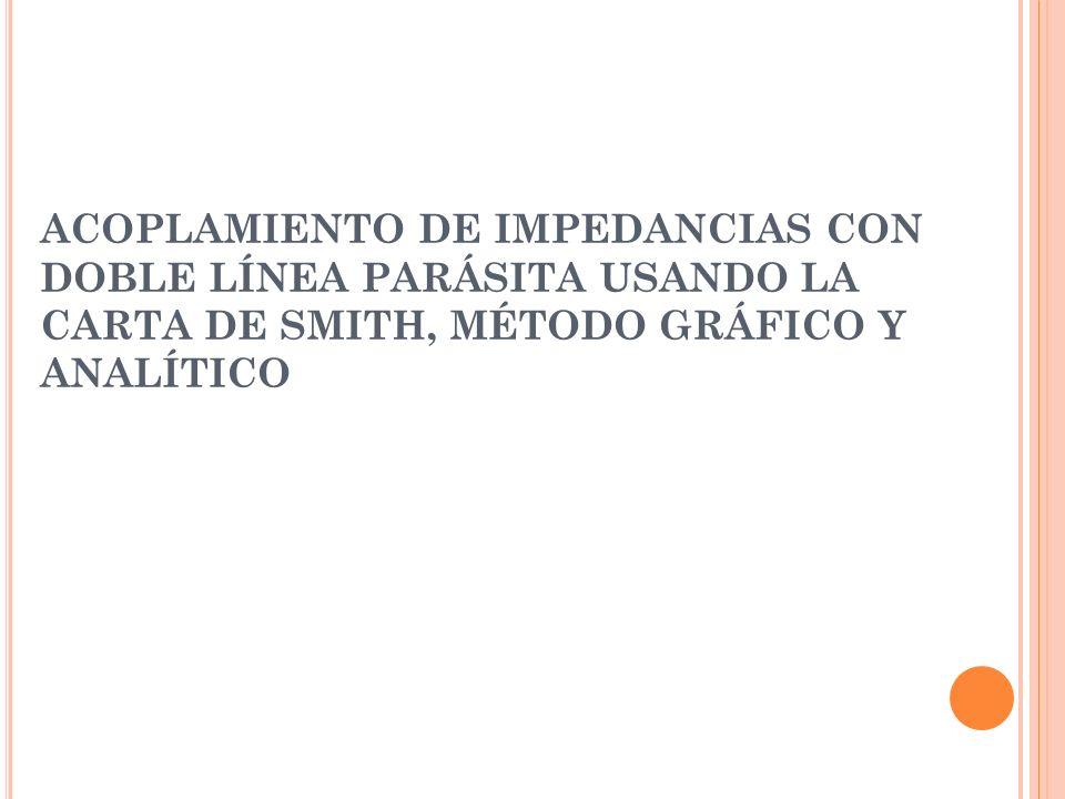 ACOPLAMIENTO DE IMPEDANCIAS CON DOBLE LÍNEA PARÁSITA USANDO LA CARTA DE SMITH, MÉTODO GRÁFICO Y ANALÍTICO
