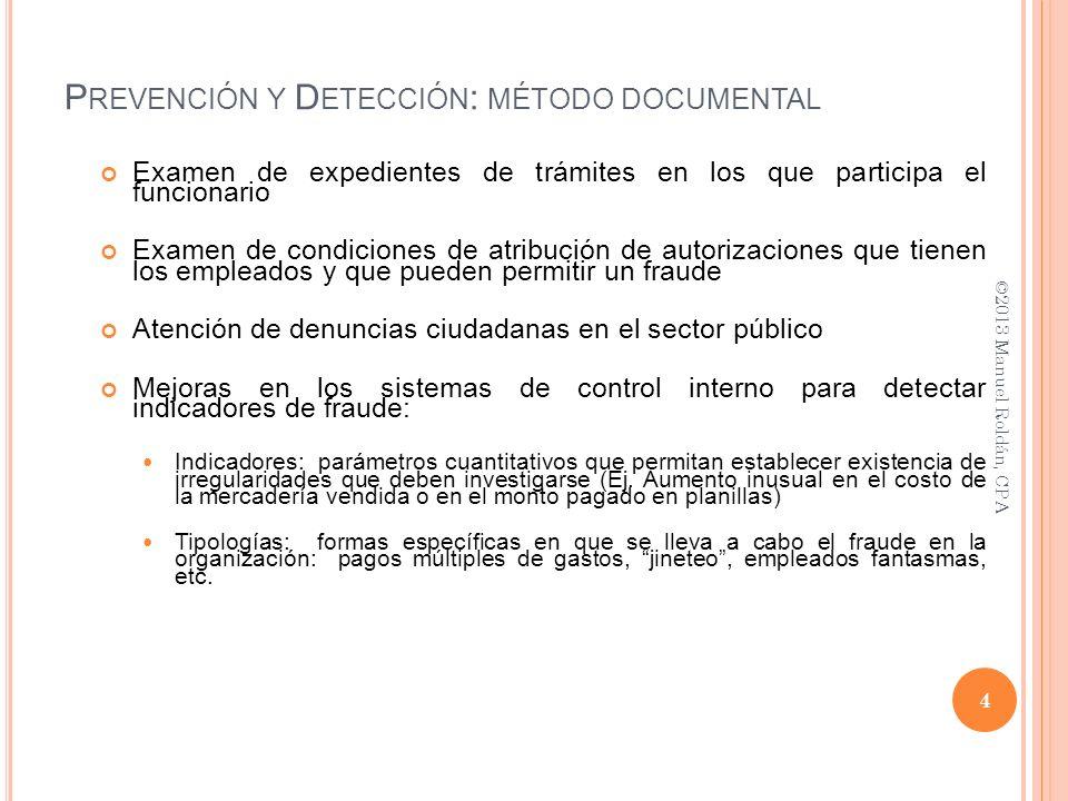 Examen de expedientes de trámites en los que participa el funcionario Examen de condiciones de atribución de autorizaciones que tienen los empleados y