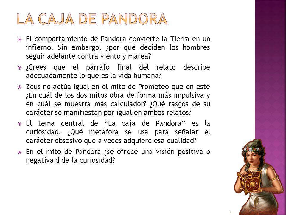 El comportamiento de Pandora convierte la Tierra en un infierno. Sin embargo, ¿por qué deciden los hombres seguir adelante contra viento y marea? ¿Cre