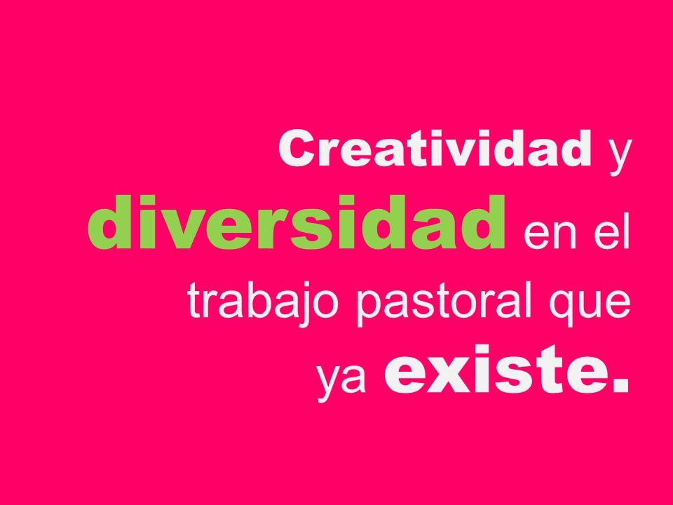 Creatividad y diversidad en el trabajo pastoral que ya existe.