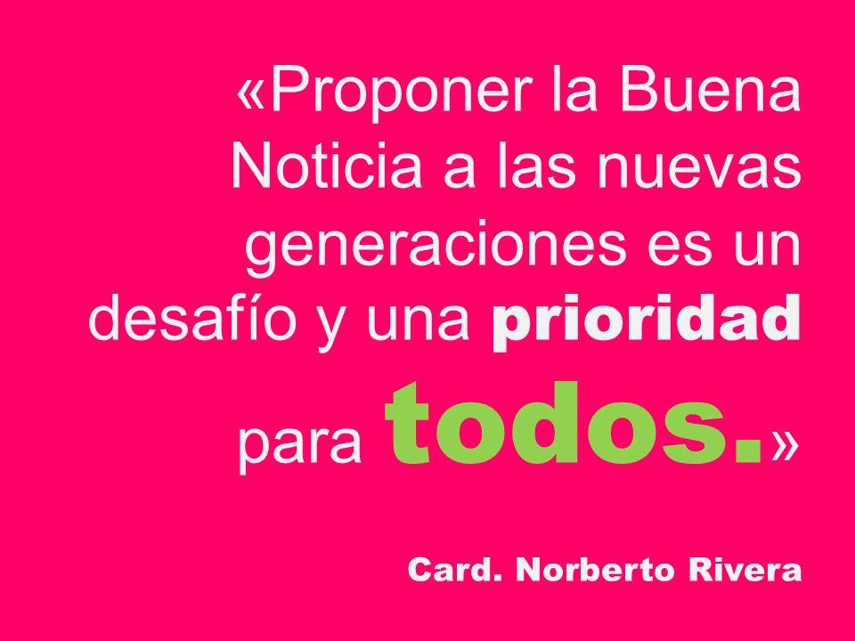 «Proponer la Buena Noticia a las nuevas generaciones es un desafío y una prioridad para todos.