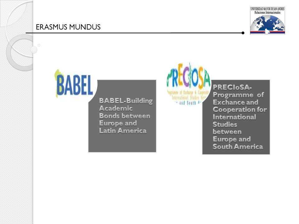 CONTINUANDO CON NUESTRO PLAN DE INTERNACIONALIZACIÓN Para el 2013 sigue nuestra meta de internacionalizar la Universidad Mayor de San Andrés.