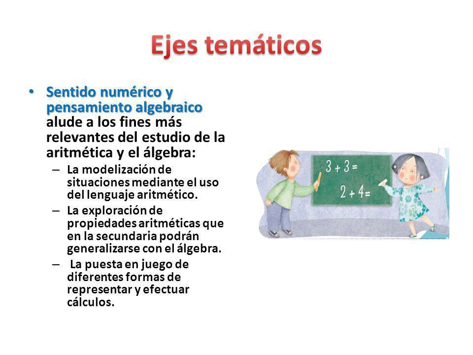 Sentido numérico y pensamiento algebraico Sentido numérico y pensamiento algebraico alude a los fines más relevantes del estudio de la aritmética y el
