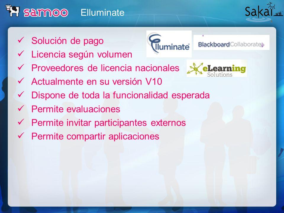 Solución de pago Licencia según volumen Proveedores de licencia nacionales Actualmente en su versión V10 Dispone de toda la funcionalidad esperada Per
